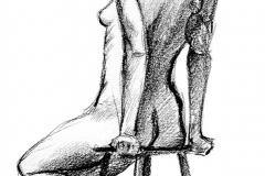 Jeffrey-Wiener_Seated-Nude_Stool