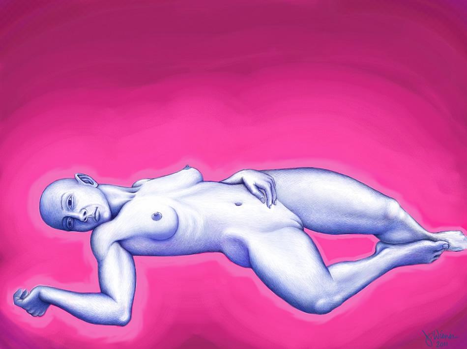 Jeffrey-Wiener_SpaceGirl_on-Pink