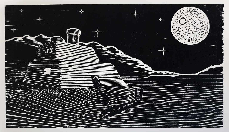 MoonScape_Woodcut-1983