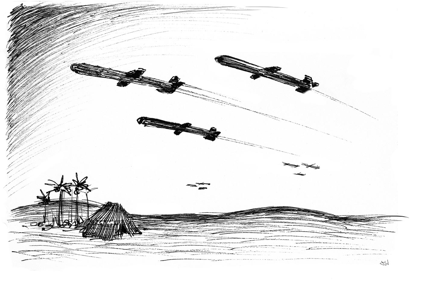 Cruide-Missiles-Desert-Night