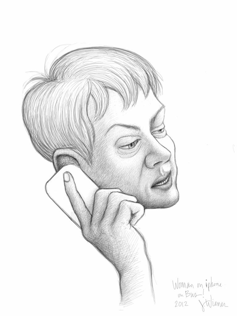 Jeffrey-Wiener_Old-Woman-on-Phone