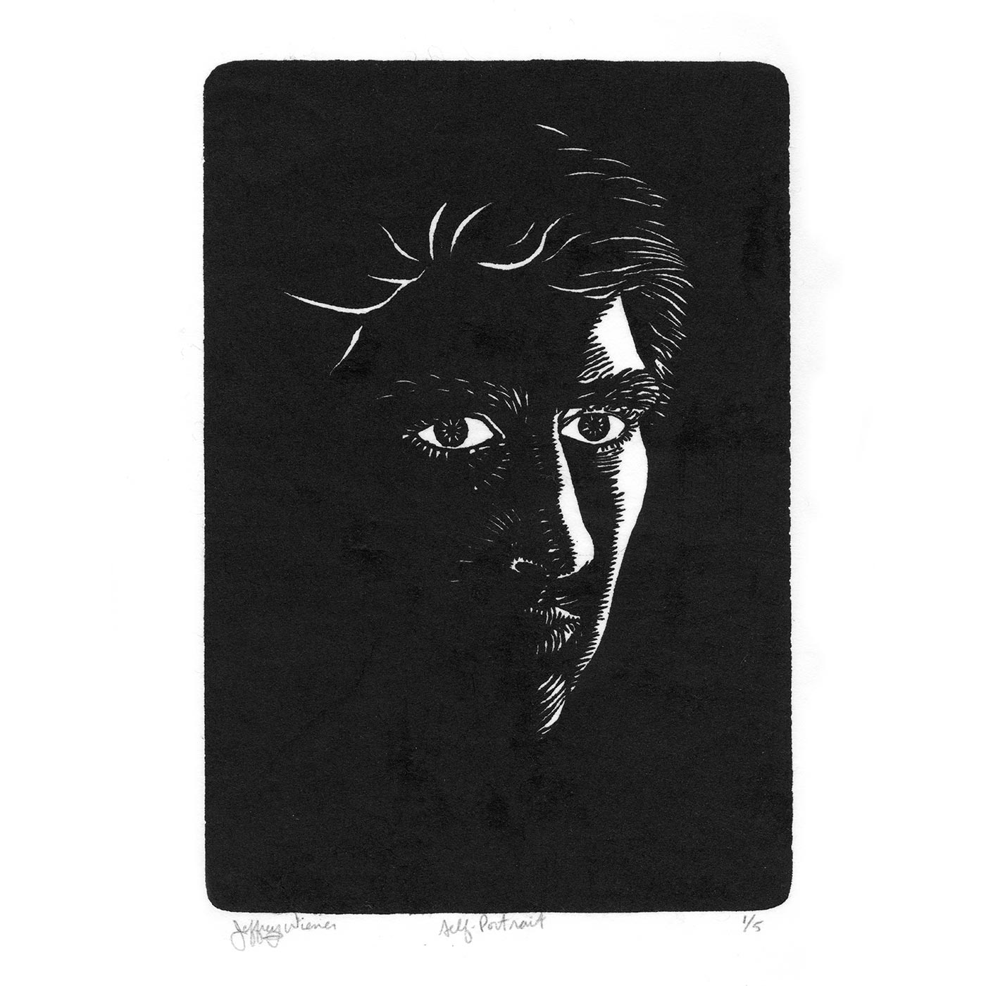 Self-Portrait_Woodcut_1982